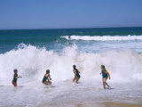 Children Playing in the Surf  Near Gosford  New South Wales  Australia