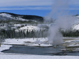 Geysers in Yellowstone National Park  Unesco World Heritage Site  Montana  USA