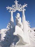Snow Sculptures at Winter Carnival  Quebec  Canada