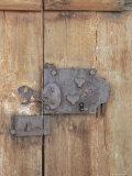 Close-Up of Lock on an Old Door  Goreme  Cappadocia  Anatolia  Turkey