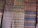 Traditional Ikat Weavings  Bena Village  Flores  Indonesia  Southeast Asia