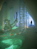 Ice Sculptures  Ice Hotel  Quebec  Quebec  Canada