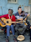 Musicians Playing Salsa  Santiago De Cuba  Cuba  West Indies  Central America
