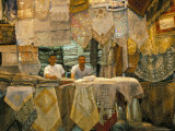 Selling Lace  Souq Al-Hamidiyya  Old City's Main Covered Market  Damascus  Syria  Middle East