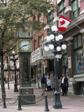 Steam Clock in Gastown  Vancouver  British Columbia  Canada