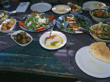 Food at the Haret Idoudna Restaurant  Madaba  Jordan  Middle East