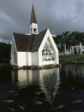 Church and Koi Pond  Wailea Beach  Maui  Hawaii  Hawaiian Islands  USA
