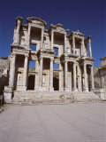 Reconstructed Library of Celsus  Archaeological Site  Ephesus  Anatolia  Turkey