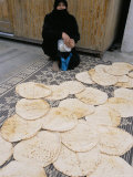 Woman Selling Bread in the Armenian Area  Aleppo  Syria  Middle East