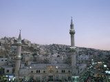 Hussein Mosque and City  Amman  Jordan  Middle East