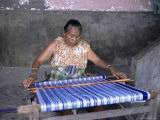 Woman Weaving Ikat Cloth  Lamalera Island  Indonesia  Southeast Asia