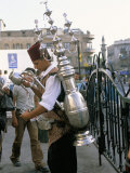 Tea Vendor at Souq Al-Hamidiyya  Old City's Main Covered Market  Damascus  Syria  Middle East