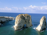 Rock Arches  Beirut  Lebanon  Mediterranean Sea  Middle East