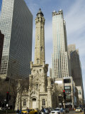 The Historic Water Tower  Near the John Hancock Center  Chicago  Illinois  USA