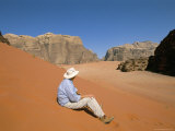 Red Sand and Rocks of the Desert  Wadi Rum  Jordan  Middle East