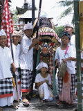 Children Dressed up for Galungan  the Day Before Nyepi Holiday  Ubud  Bali  Indonesia