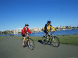 Biking on the Waterfront  Victoria  British Columbia  Canada