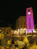 Cafes at Night  Place d'Etoile  Beirut  Lebanon  Middle East
