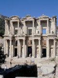 Reconstructed Library  Ephesus  Anatolia  Turkey