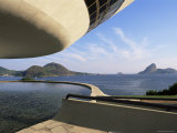 View Across Bay to Rio from Museo De Arte Contemporanea  by Oscar Niemeyer  Rio De Janeiro  Brazil