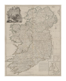 A Map of the Kingdom of Ireland  Divided into Provinces