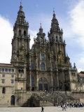 Santiago Cathedral on the Plaza Do Obradoiro  Santiago De Compostela  Spain