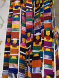 Traditional Woven Fabrics in Tourist Shop  Mitla  Oaxaca  Mexico  North America