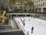Ice Rink at Rockefeller Center  Mid Town Manhattan  New York City  New York  USA