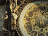 Close-Up of the Astronomical Clock  Town Hall  Old Town Square  Prague  Czech Republic
