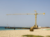 New Pier Under Construction  Santa Maria  Sal (Salt)  Cape Verde Islands  Africa