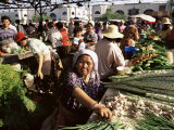 Vegetable Seller  Osh Bazaar  Bishkek  Kyrgyzstan  Central Asia