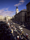 Puerta Del Sol  from the West  Madrid  Spain