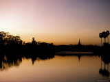Sunset on Royal Lake  Yangon (Rangoon)  Myanmar (Burma)