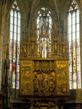 Altar in 14th Century Church of St Jacob  Levoca  Slovakia