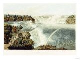 Niagara Falls Painted from the Chinese Pagoda  Point View Gardensr  1845