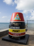 Old Buoy Used as Marker for the Furthest Point South in the United States  Key West  Florida  USA