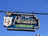 Floridita Restaurant and Bar Where Hemingway Drank Daiquiris  Havana  Cuba  West Indies