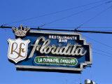 Floridita Restaurant and Bar Where Hemingway Drank Daiquiris  Havana  Cuba  West Indies