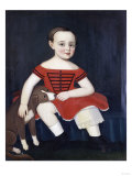 Portrait of a Boy in a Red Dress