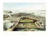 A Bird's Eye View of Boston  1850
