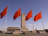 Mao Tse-Tung Memorial and Monument to the People&#39;s Heroes  Tiananmen Square  Beijing  China