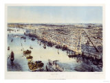 A Bird's Eye View of Philadelphia  Printed by Sarony & Major  New York  1850