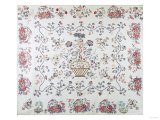 Broaderie Perse with Tree of Life Coverlet  Mary Hendrick  Vermont  1810