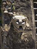 Gargoyles on the Temple of Quetzalcoati  Teotihuacan  Unesco World Heritage Site  Mexico
