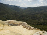 Hierve El Agua  Water Rich in Minerals Bubbles up from the Mountains and Pours Over Edge  Oaxaca