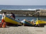 Fishing Boats at the Port of Ponto Do Sol  Ribiera Grande  Santo Antao  Cape Verde Islands