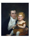 Portrait of Dr Samuel Simes and His Daughter  Mary Jane