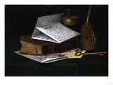 Tabletop Still Life  a Letter from New York