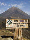 The Volcano of Pico De Fogo in the Background  Fogo (Fire)  Cape Verde Islands  Africa