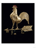 Feathered Rooster and Arrow Weathervane  19th Century